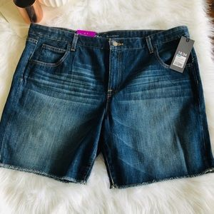 Target: Dark Blue Solid Denim Jean Short